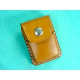 Porte Zippo cuir marron