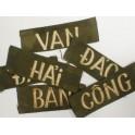 Bande patronymique troupe Sud Vietnam blanc fond OD