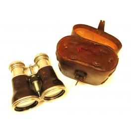 Paire de jumelles anciennes Ref J48  avec etui cuir