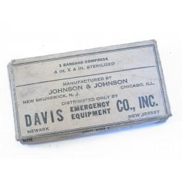 Pansement Davis 4 IN compress US army 39/45
