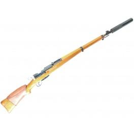Silencieux pour Fusil K31 avec son  adaptateur