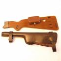 Stock wood with leather pistole Borchardt C93