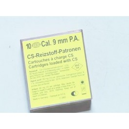 Boite de 10 cartouches 9 mm PA a gaz   réf MD224