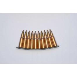 Lame + 10 cartouches AK 47 ou SKS  inerte de manipulation